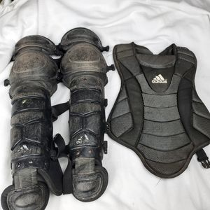 Adidas Chest Protectors Shin Guards And Rawlings C